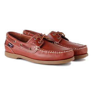 Chatham Women's Deck Lady G2 Brown Leather Boat / Deck Shoe