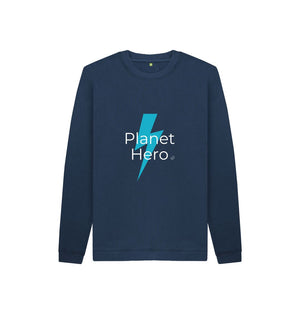 Navy Blue Aqua Living Planet Hero Kids Jumper - Blue