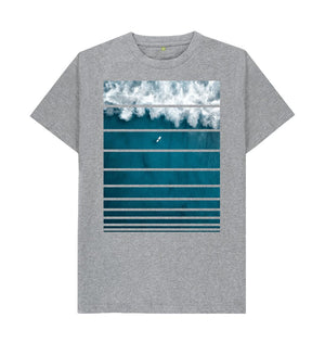 Athletic Grey Big Wave T-Shirt