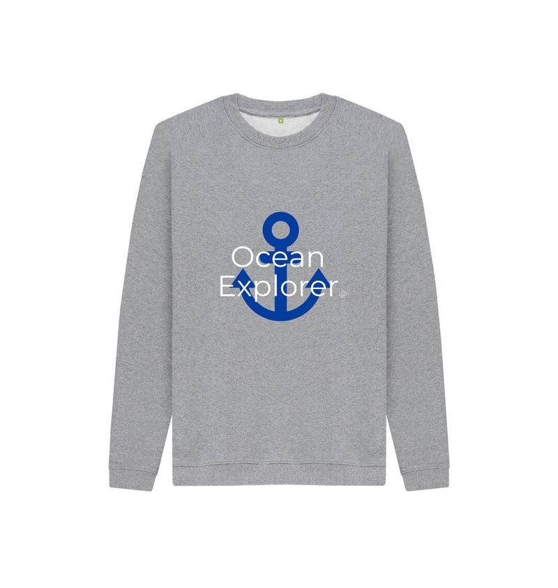 Athletic Grey Ocean Explorer Kids Jumper - Blue