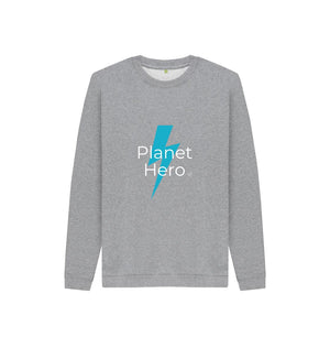 Athletic Grey Aqua Living Planet Hero Kids Jumper - Blue