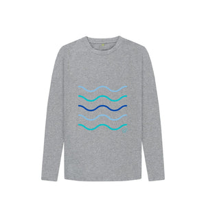 Athletic Grey Kids Making Waves Long Sleeved T Shirt
