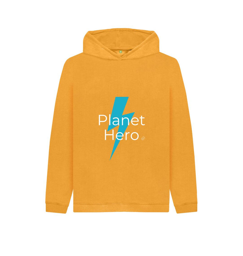 Mustard Aqua Living Planet Hero Kids Hoodie - Blue