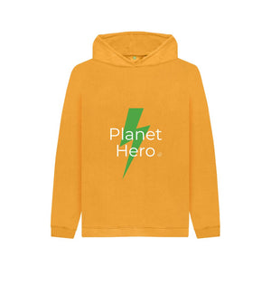 Mustard Aqua Living Planet Hero Kids Hoodie - Green