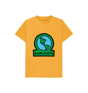 Mustard Kids No Planet B Organic Cotton T Shirt