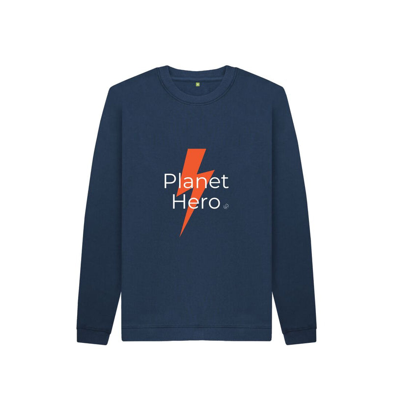 Navy Blue Aqua Living Planet Hero Jumper - Orange