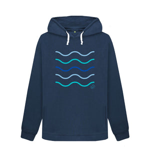 Navy Blue Women's Making Waves Aqua Living Hoodie