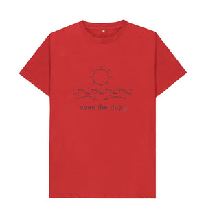 Red Seas The Day Graphic T Shirt