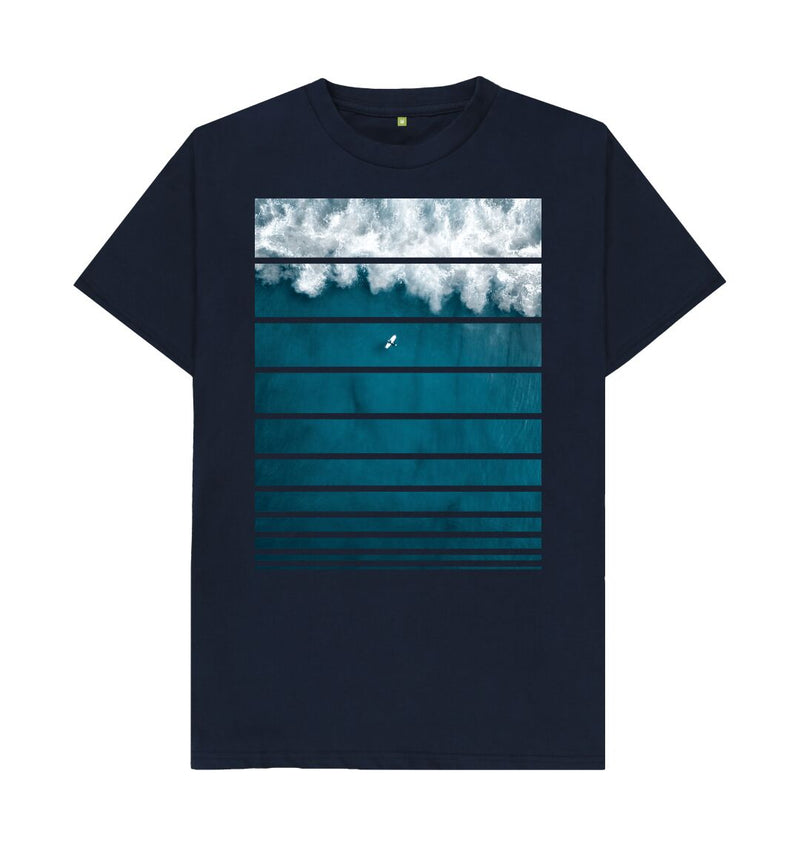Navy Blue Big Wave T-Shirt
