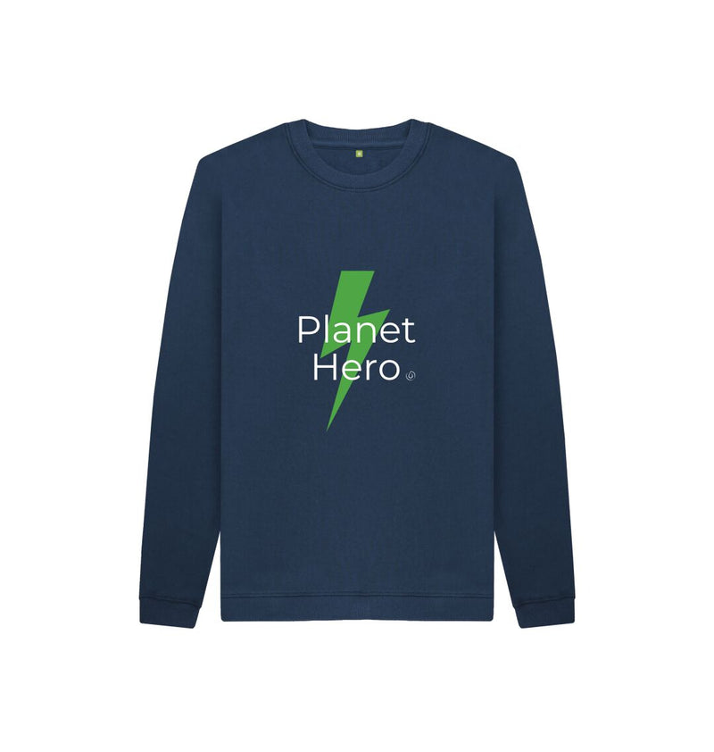 Athletic Grey Aqua Living Planet Hero Kids Jumper - Green