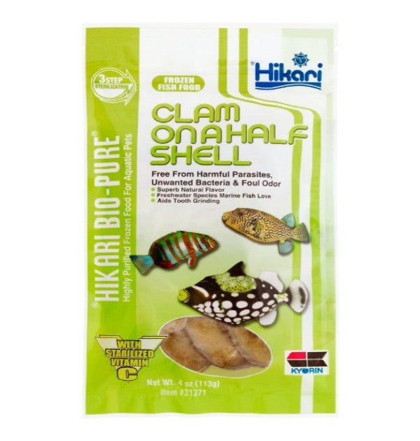 Frozen - Clam On A Half Shell (4.0 oz) - Cube