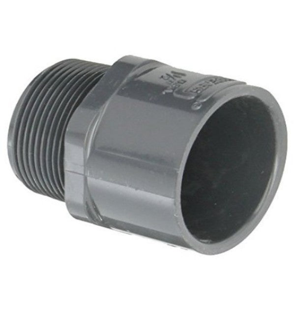 1 PVC MALE ADAPTER MPTXSOC SCH40 GRAY