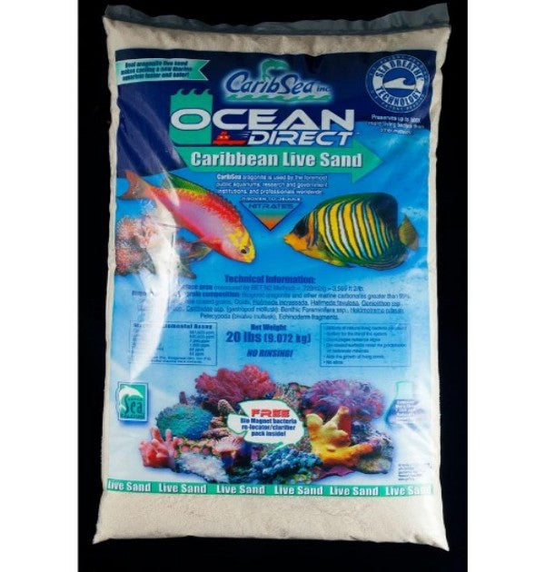 Ocean Direct - Natural Live Sand - 20lbs