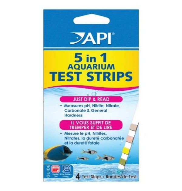 5 IN 1  TEST STRIPS, 4 COUNT