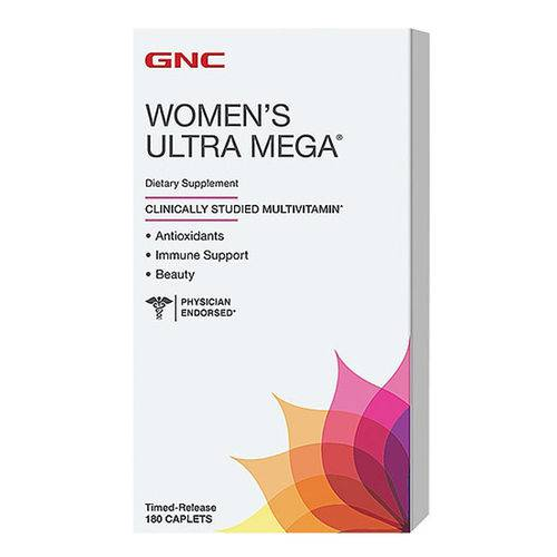 Gnc Women Ultra Energy Multivitamínico Feminino 180caps