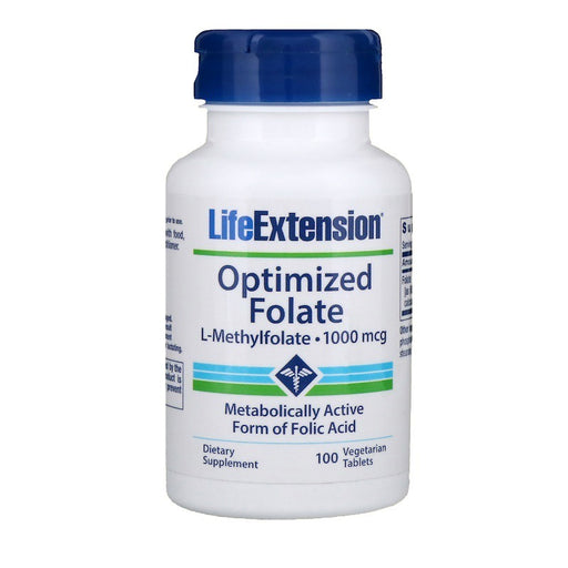Life Extension Folato Otimizado (L-Methylfolate) - 100 Cápsulas Vegetarianas