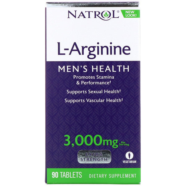 L-Arginine 3000 mg - 90 Tabletes - Natrol - (Saúde Sexual) Pronta Entrega