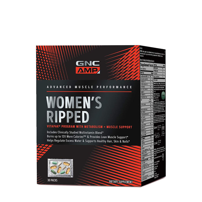GNC Pro Performance AMP Womens Ripped Vitapak - Metabolismo e Suporte Muscular