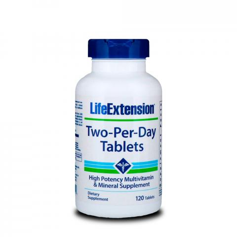 Multivitaminico Two Per Day Life Extension 120 Tabletes