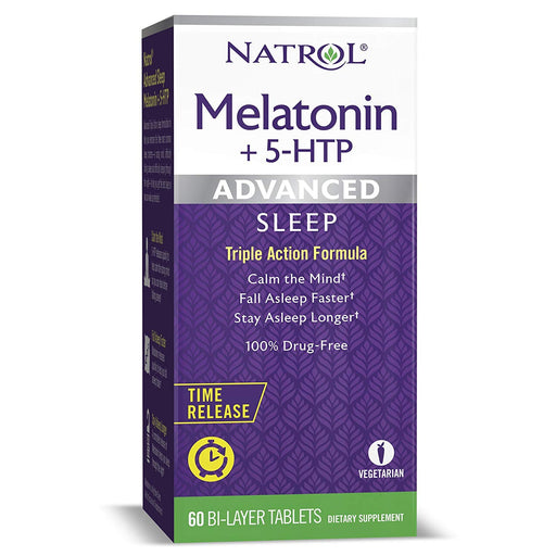 Melatonina + 5 HTP Advanced  Sleep Time Release - Tripla Ação