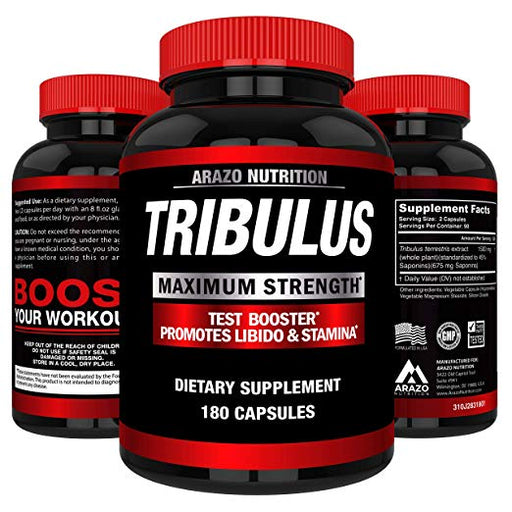 Tribulus Terrestris Extract Powder  | Testosterone Booster - 180 Cáps