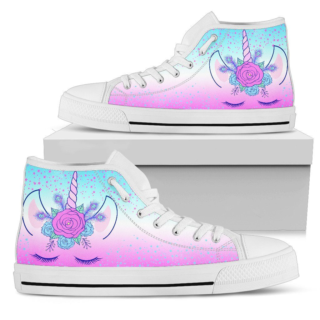 Unicorn Flowers Women's High Top Sneakers sneakers