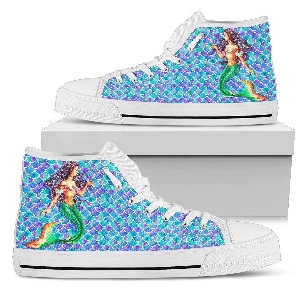 Marvelous Mermaid Women's High Top Sneakers Mermaid Shoes