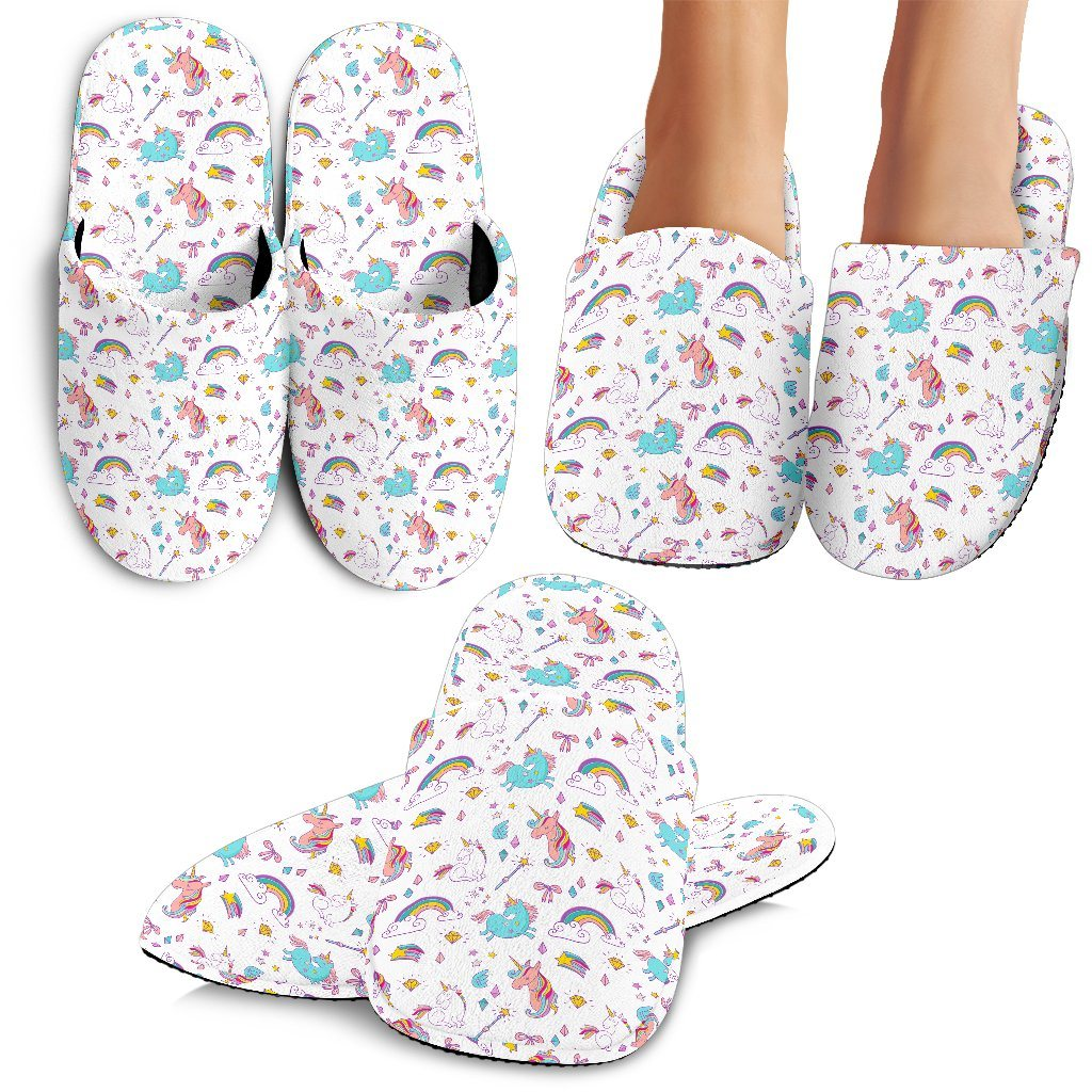 Unicorn Delight Slippers - Express Delivery