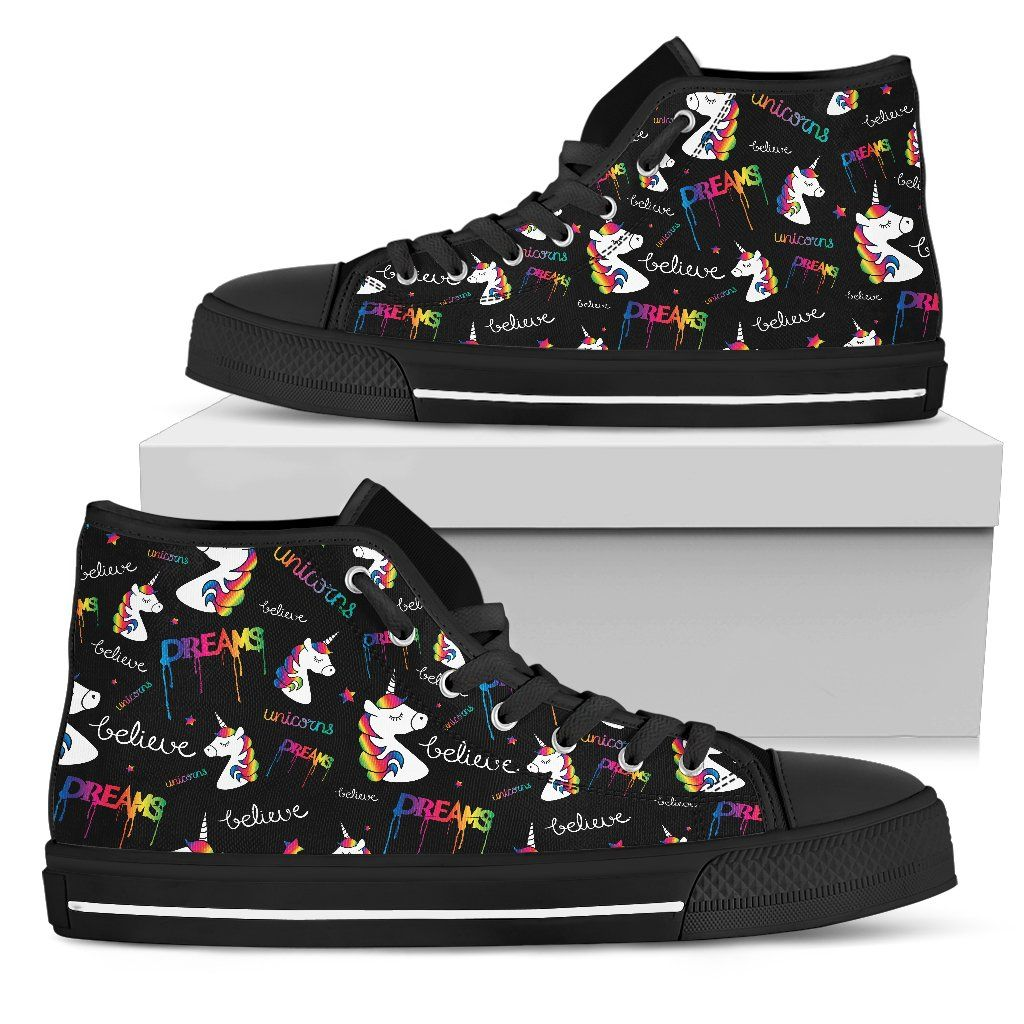 Believe In Dreams Unicorn Women's High Tops sneakers