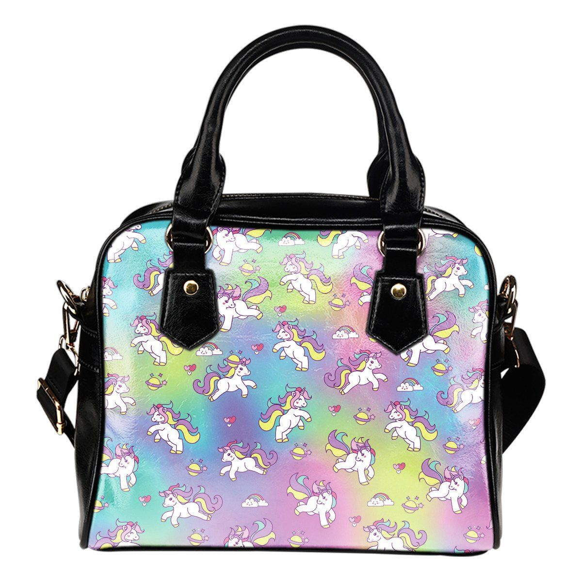 Unicorn Galaxy Shoulder Handbag Purse Purses