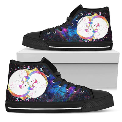 Unicorn Yin Yang Sneakers sneakers Women's High Tops US5.5 (EU36)