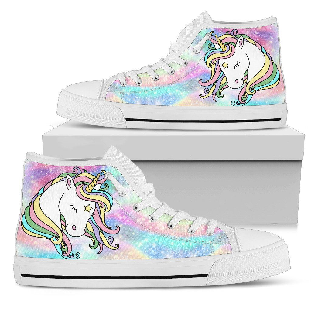 Sweet Unicorn Sparkle Women's High Top Sneakers sneakers