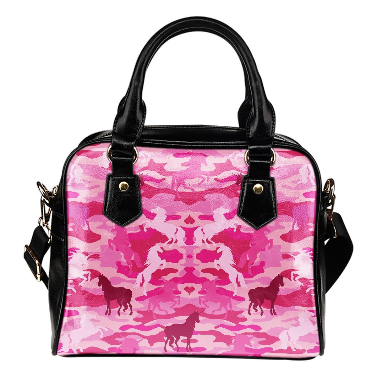 Unicorn Camo Shoulder Handbag Purses