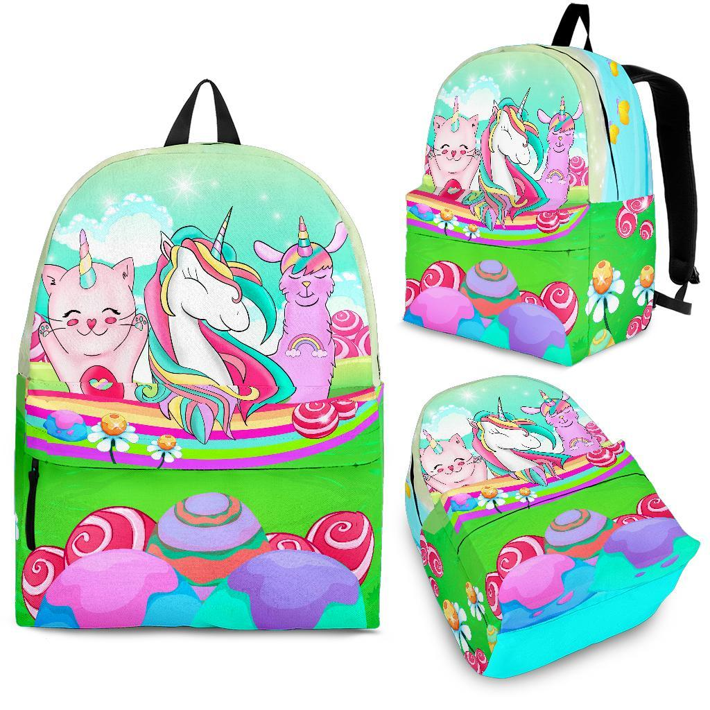 Unicorn Caticorn Llamacorn Backpack Unicorn Backpacks