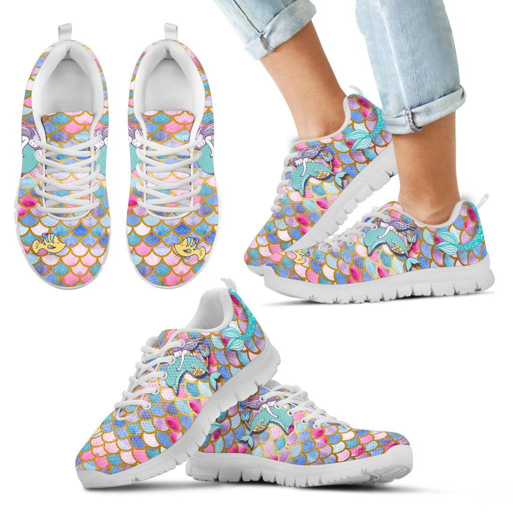 Mermaid Euphoria Kid's Sneakers - Express Delivery