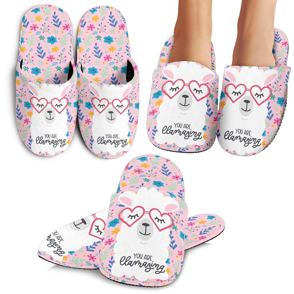 You Are Llamazing Llama Slippers Llama Slippers
