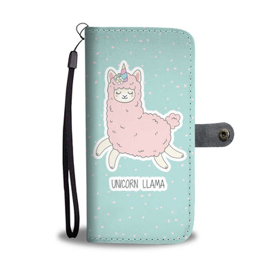 Unicorn Llama Phone Wallet Wallet Case
