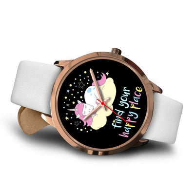 Find Your Happy Place Unicorn Watch Watch