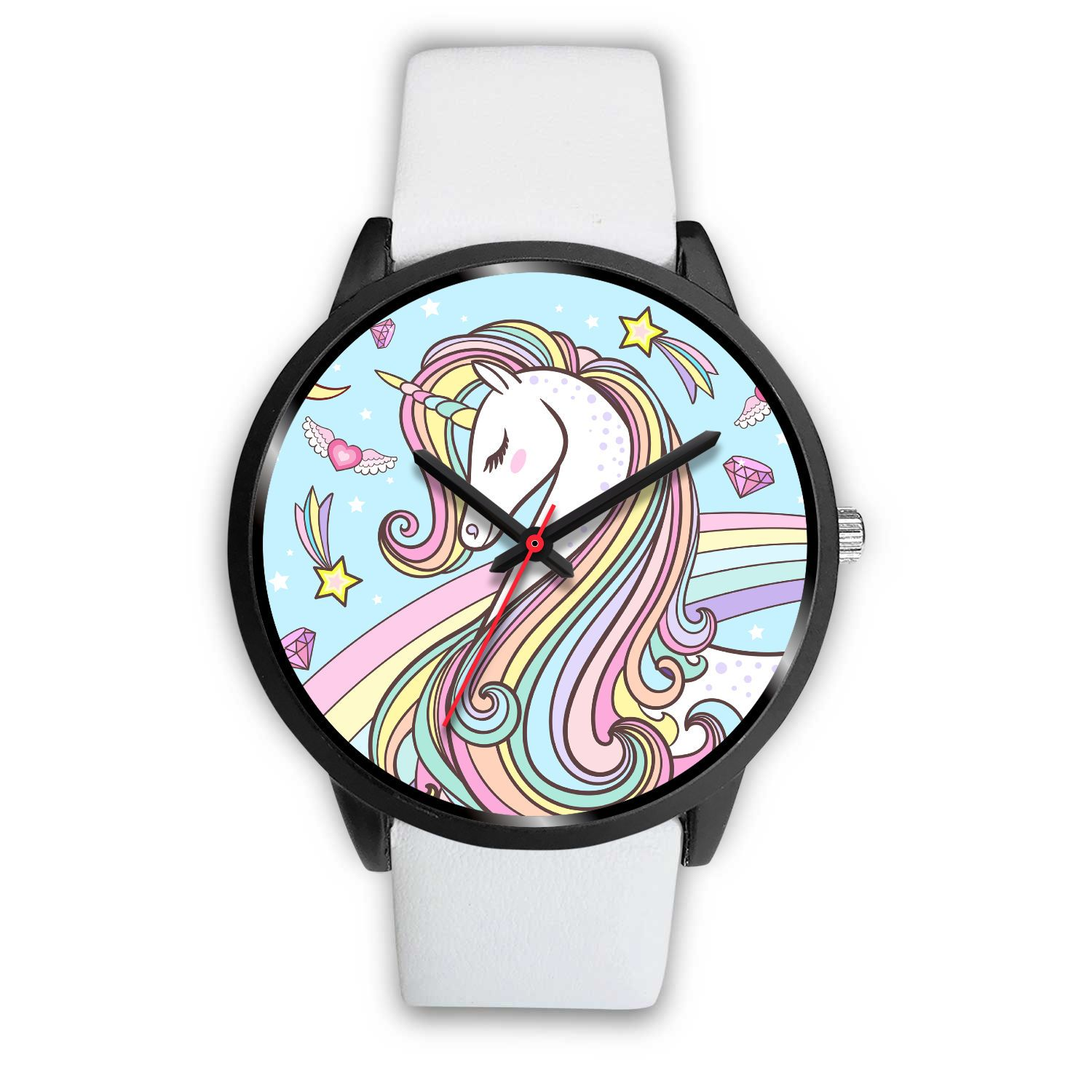 Forever Unicorn Watch Watch Mens 40mm White Leather