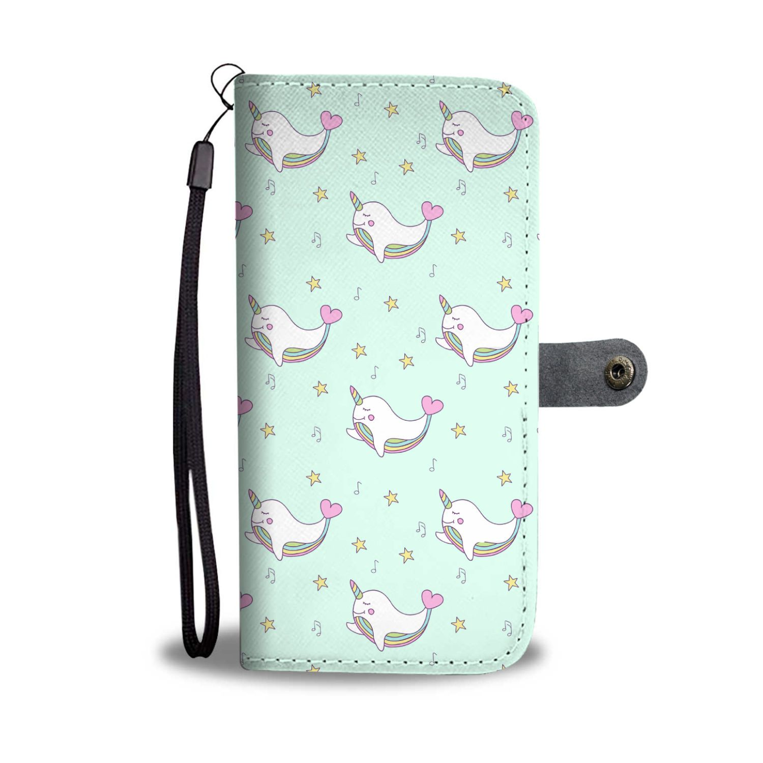Narwhal Unicorn Phone Case Wallet Wallet Case