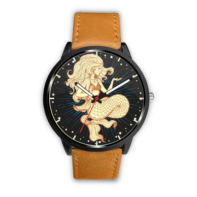 Mermaid Stars Watch Mermaid Jewelry Mens 40mm Brown