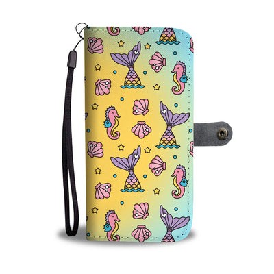 Seahorses & Mermaid Tails Phone Case Wallet Mermaid Phone Wallets