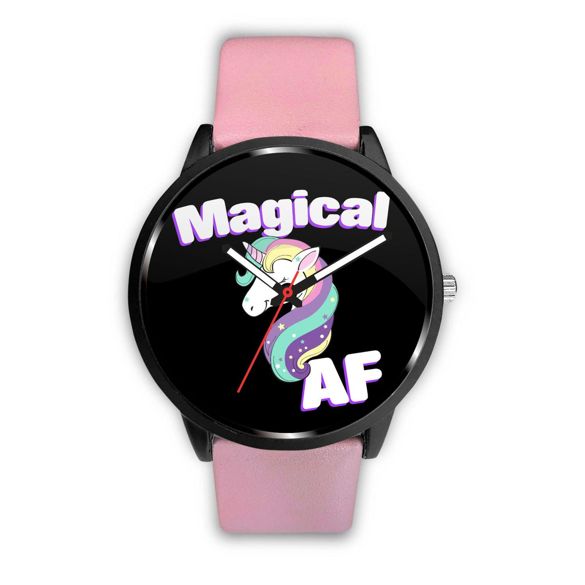 Magical AF Unicorn Watch Watch Mens 40mm Pink