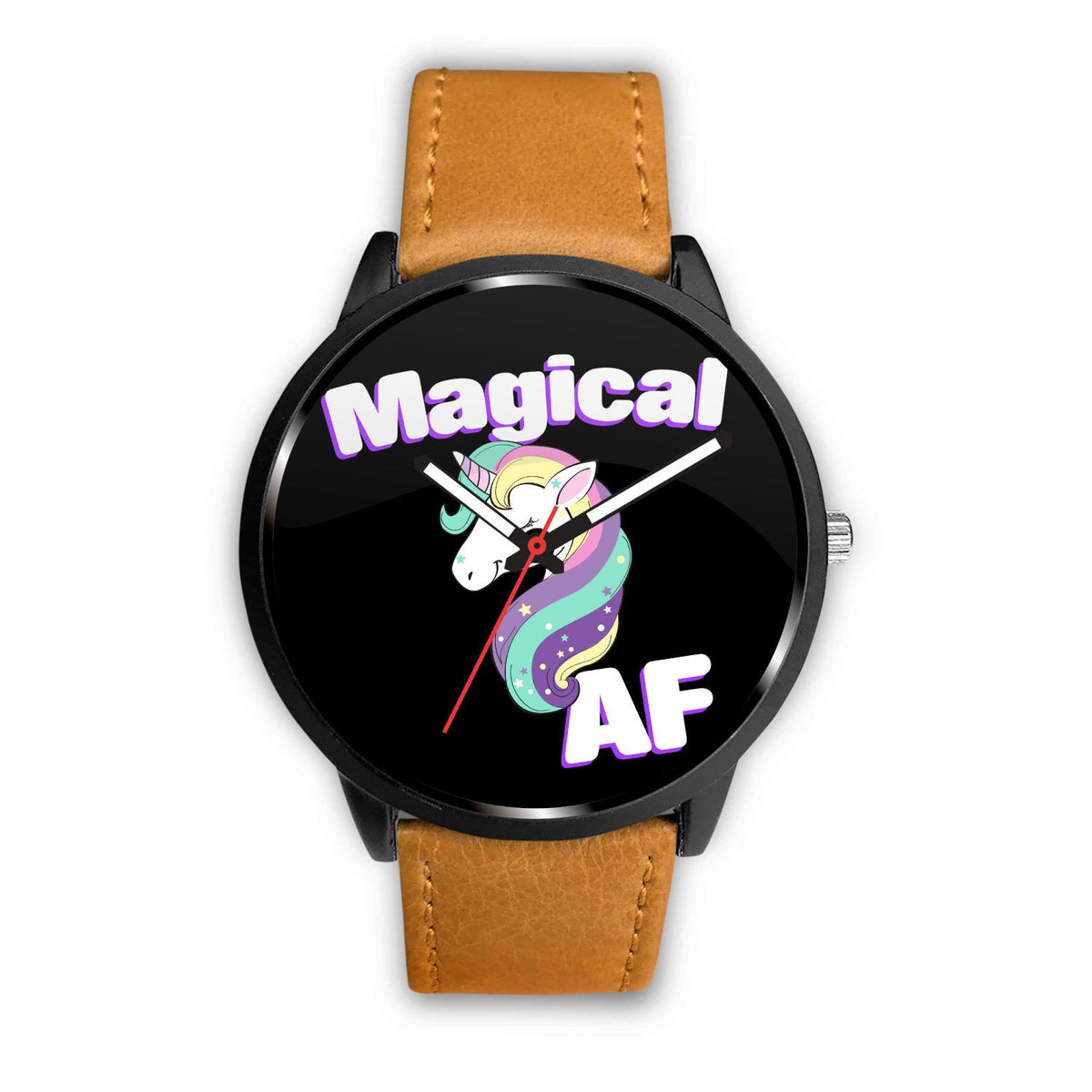 Magical AF Unicorn Watch Watch Mens 40mm Brown