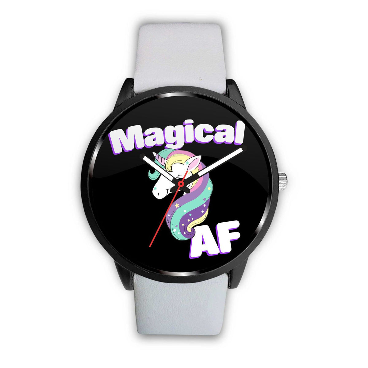 Magical AF Unicorn Watch Watch Mens 40mm White