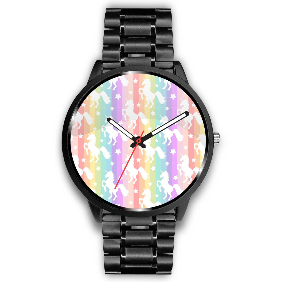 Unicorn Rainbows Watch Watch Mens 40mm Metal Link