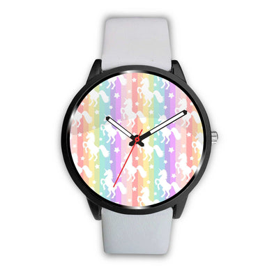 Unicorn Rainbows Watch Watch Mens 40mm White