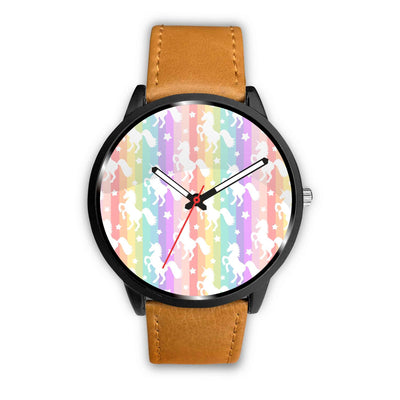 Unicorn Rainbows Watch Watch Mens 40mm Brown