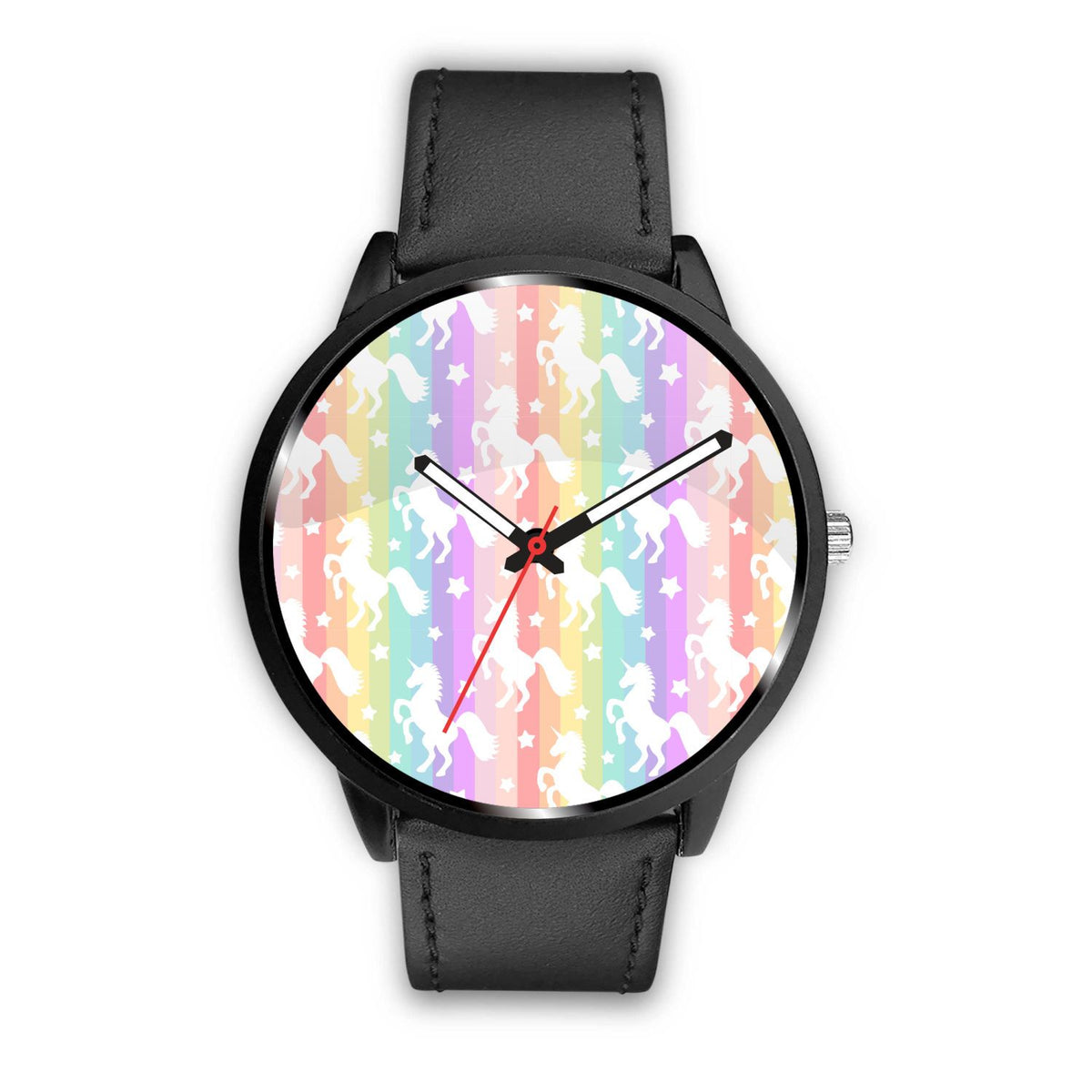 Unicorn Rainbows Watch Watch Mens 40mm Black