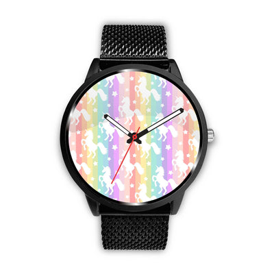 Unicorn Rainbows Watch Watch Mens 40mm Metal Mesh